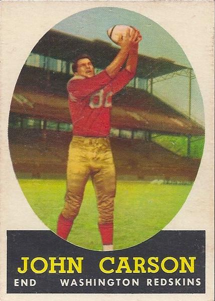 John Carson 1958 Topps