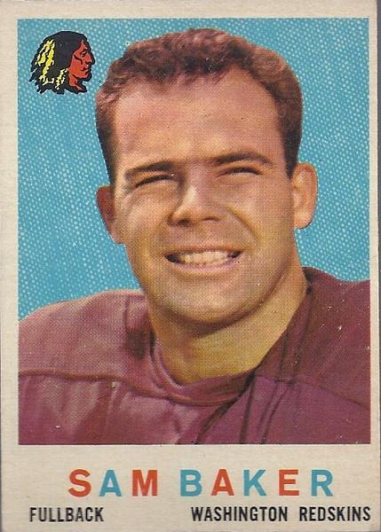 Sam Baker 1959 Topps