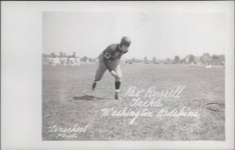 1939 Bo Russell Redskins Team Issue Post Cards