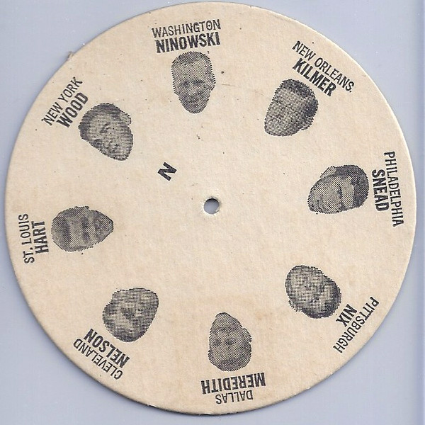 1969 Tudor Football Disc N Jim Ninowski