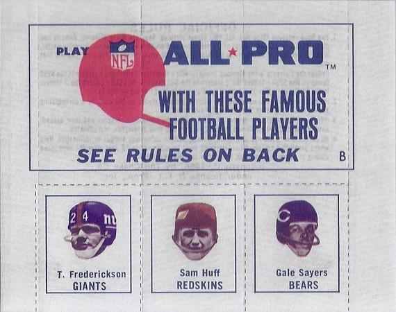 Sam Huff 1966 Amoco Stamps