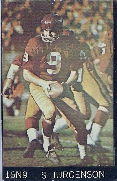 1968 Champion Corn Flakes Sonny Jurgensen 16N9