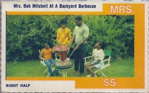 Bobby Mitchell 1968 Amoco Stamps