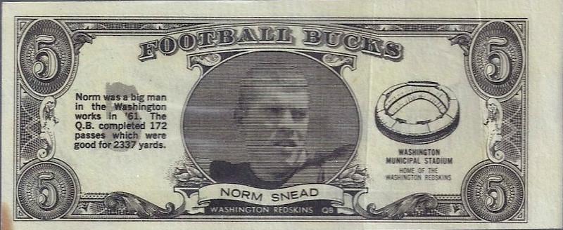Norm Snead 1962 Topps Bucks