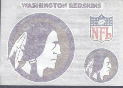1960s Chiffon Margarine Redskins Team Decal