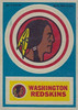 Redskins 1968 Topps Test Team Stickers