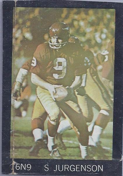 Sonny Jurgensen 1968 SI Poster Sample Card