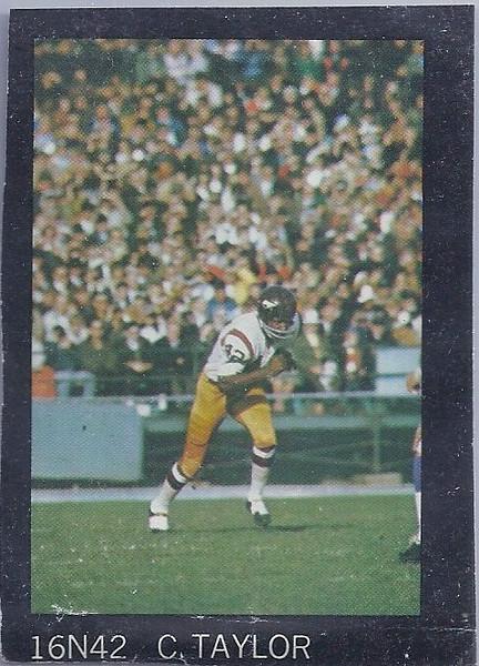 Charley Taylor 1968 SI Poster Sample Card