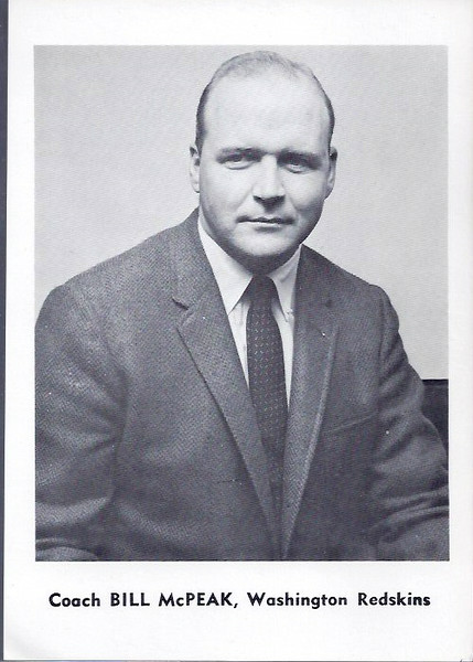 Bill McPeak 1961 Jay Publishing Redskins