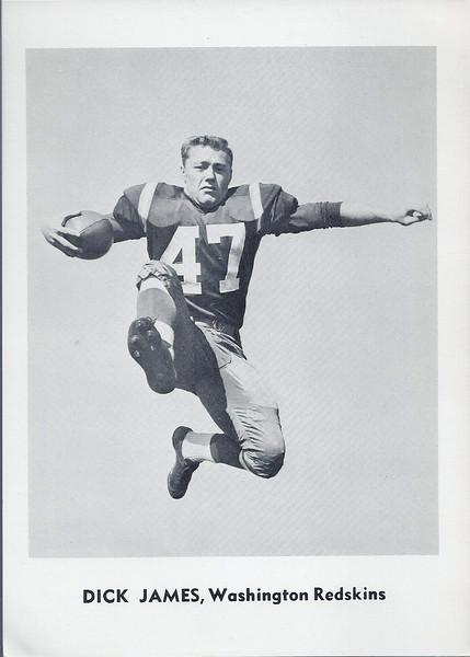 Dick James 1961 Jay Publishing Redskins