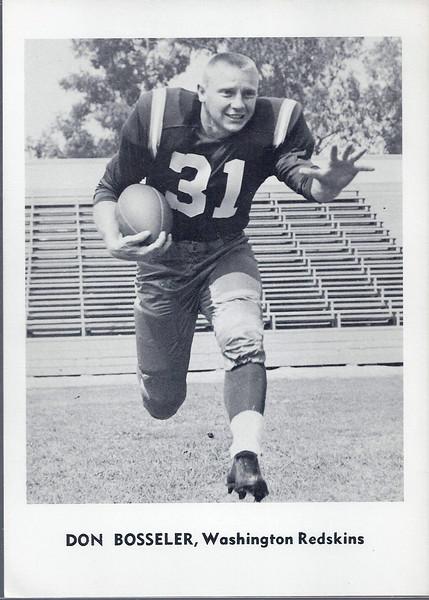 Don Bosseler 1961 Jay Publishing Redskins
