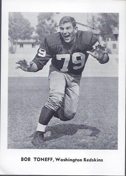 Bob Toneff 1961 Jay Publishing Redskins