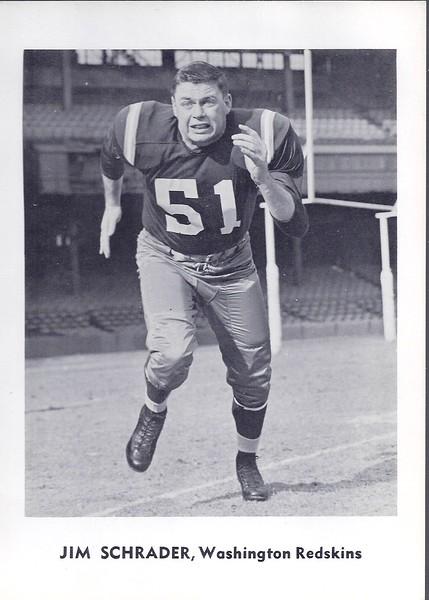 Jim Schrader 1961 Jay Publishing Redskins