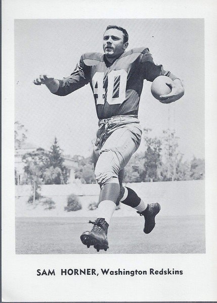 Sam Horner 1961 Jay Publishing Redskins