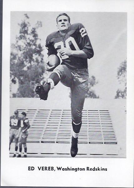 Ed Vereb 1961 Jay Publishing Redskins