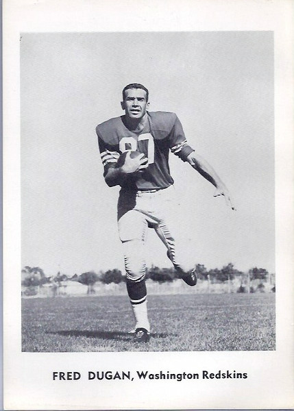 Fred Dugan 1961 Jay Publishing Redskins