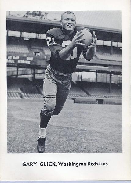 Gary Glick 1961 Jay Publishing Redskins
