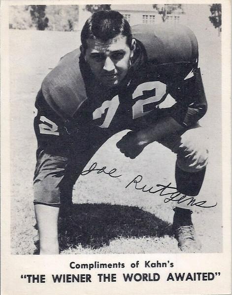 Joe Rutgens 1963 Kahn's
