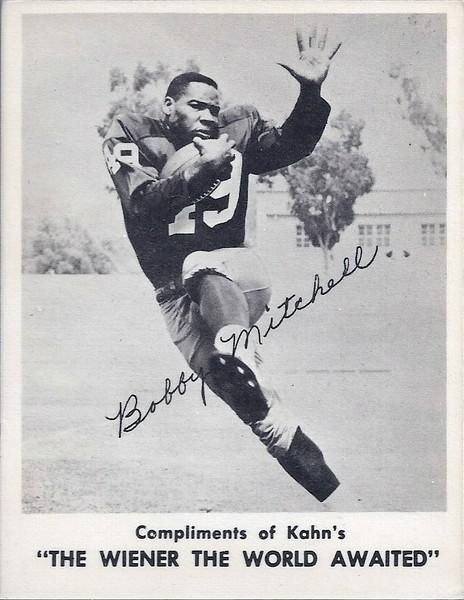 Bobby Mitchell 1963 Kahn's