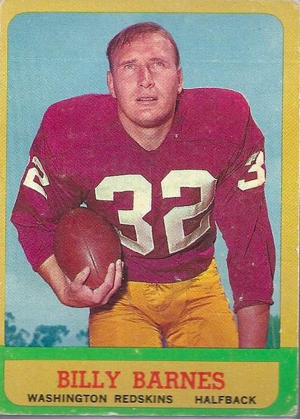 Billy Barnes 1963 Topps