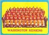 Redskins Team Card 1963 Topps