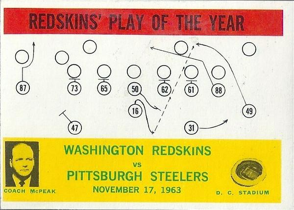 Redskins Play of the Year 1964 Philadelphia Gum