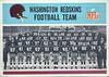 Redskins Team Card 1966 Philadelphia