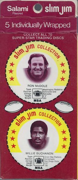 Ron McDole 1978 Slim Jim Discs Panel Red Variation