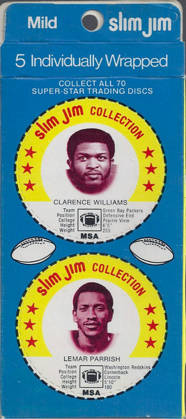 Lemar Parrish 1978 Slim Jim Discs Panel Blue Variation