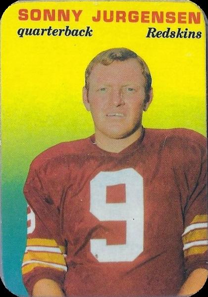 Sonny Jurgensen 1970 Topps Glossy