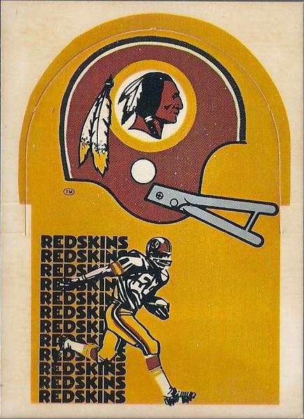 1976 Sunbeam Bread Die Cut Redskins