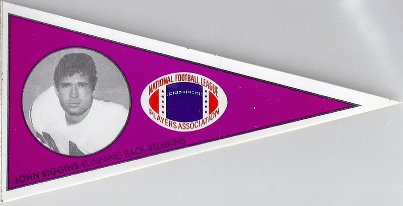 John Riggins 1979 NFLPA Pennant Stickers