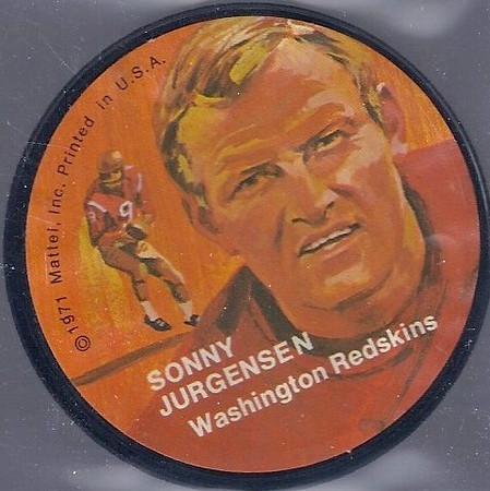Sonny Jurgensen 1971 Mattel Mini-Records