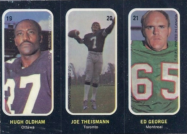Joe Theismann 1972 O-Pee-Chee CFL Stickers