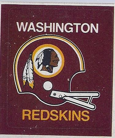 1973 Hallmark Redskins Helmet Sticker