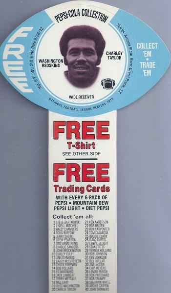 Charley Taylor 1976 Pepsi MSA Discs