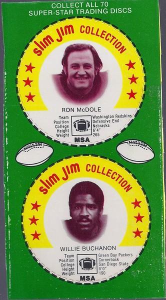 Ron McDole 1978 Slim Jim Discs Panel Green Variation