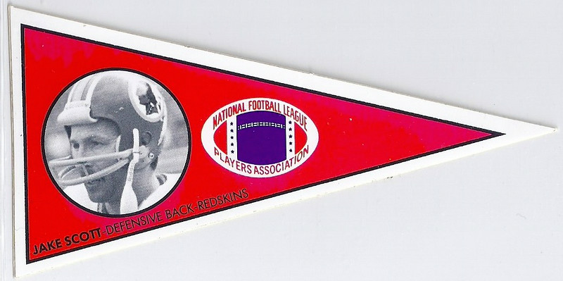 Jake Scott 1979 NFLPA Pennant Stickers