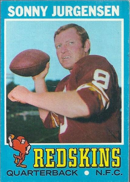 Sonny Jurgensen 1971 Topps