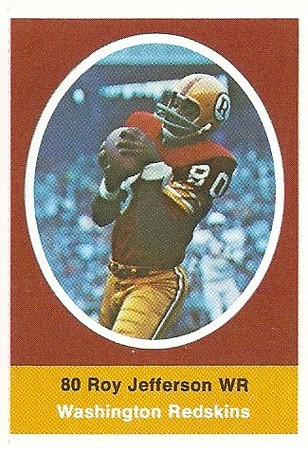 Roy Jefferson 1972 Sunoco Stamps