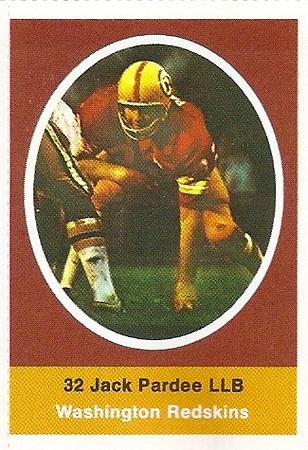 Jack Pardee 1972 Sunoco Stamps