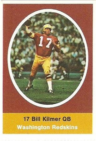 Bill Kilmer 1972 Sunoco Stamps