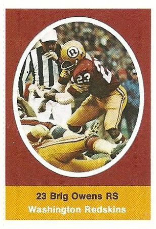 Brig Owens 1972 Sunoco Stamps