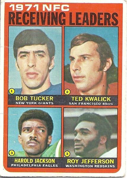 NFC Receiving Leaders 1972 Topps