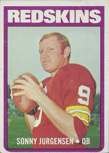 Sonny Jurgensen 1972 Topps