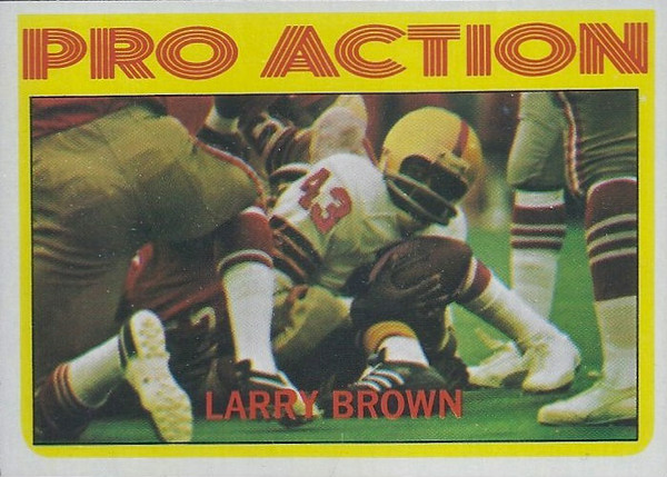 Larry Brown Pro Action 1972 Topps