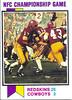 Redskins NFC Championship 1973 Topps