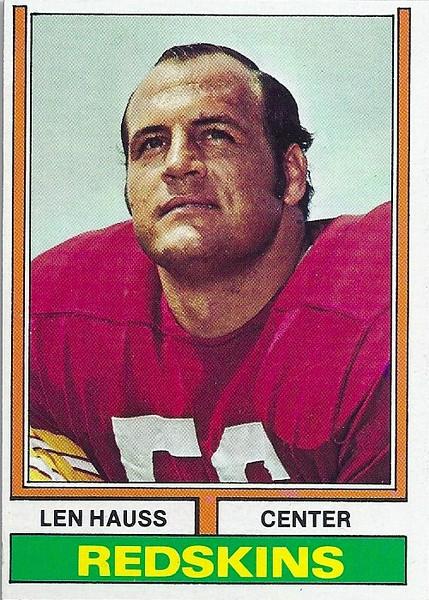 Len Hauss 1974 Topps