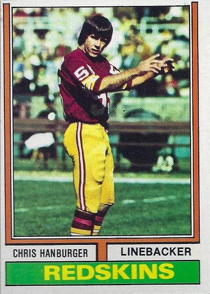Chris Hanburger 1974 Topps