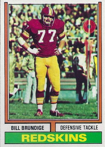 Bill Brundige 1974 Topps